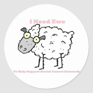 I Need Ewe Classic Round Sticker