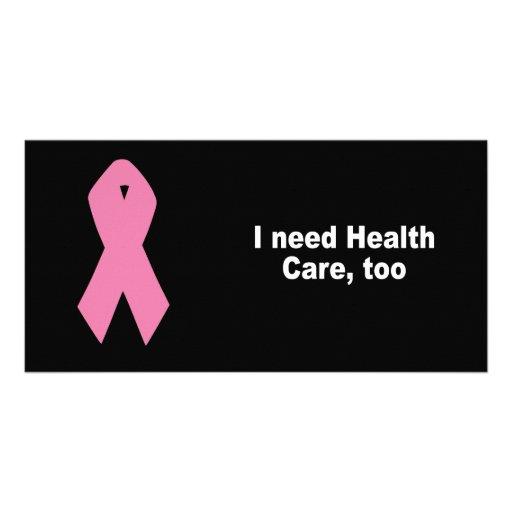 I need health care, too personalized photo card