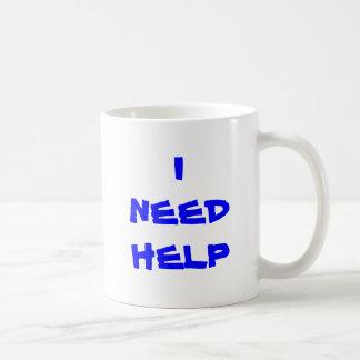 I NEED HELP, INEEDHELP CLASSIC WHITE COFFEE MUG