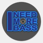 I NEED MORE BASS blue Dubstep-dnb-Club-Djay Sticker