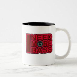 I NEED MORE BASS-Dubstep-DnB-DJ-Hip Hop-Club Two-Tone Coffee Mug