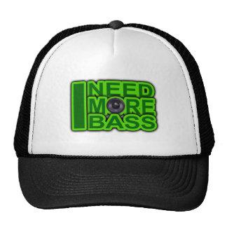 I NEED MORE BASS green -Dubstep-DnB-Hip Hop-Crunk Trucker Hat