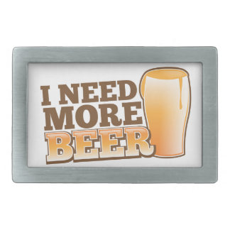 I NEED MORE BEER from The Beer Shop Belt Buckle