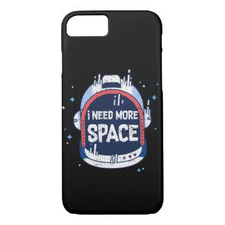 I Need More Space Aerospace Rocket Helmet iPhone 8/7 Case