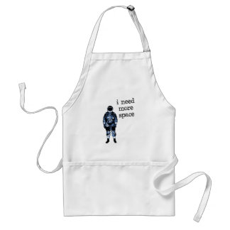 I Need More Space Astronaut Adult Apron