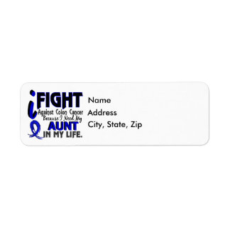 I Need My Aunt Colon Cancer Label