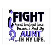 I Need My Aunt Esophageal Cancer Postcard