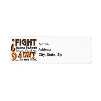 I Need My Aunt Leukemia Label