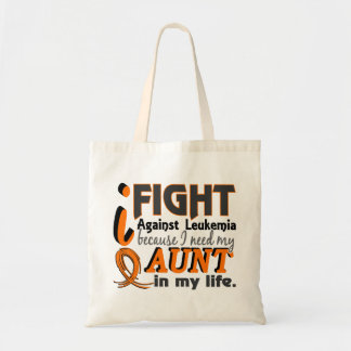 I Need My Aunt Leukemia Tote Bag
