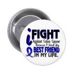 I Need My Best Friend Colon Cancer 2 Inch Round Button