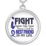 I Need My Best Friend Colon Cancer Round Pendant Necklace