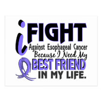I Need My Best Friend Esophageal Cancer Postcard