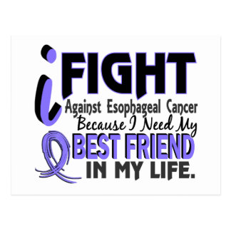 I Need My Best Friend Esophageal Cancer Postcard