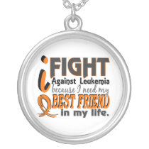 I Need My Best Friend Leukemia Silver Plated Necklace