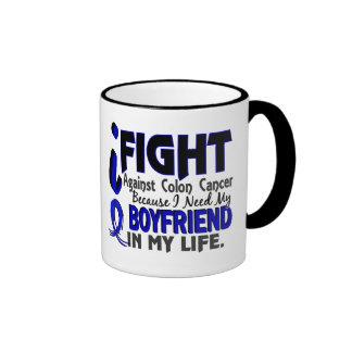 I Need My Boyfriend Colon Cancer Ringer Mug