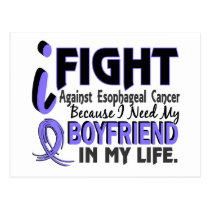 I Need My Boyfriend Esophageal Cancer Postcard