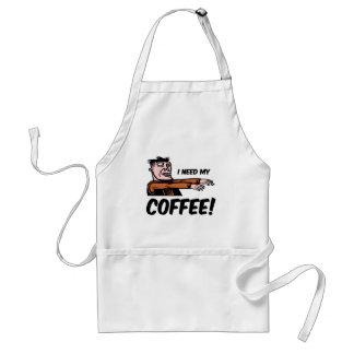 i need my coffee adult apron