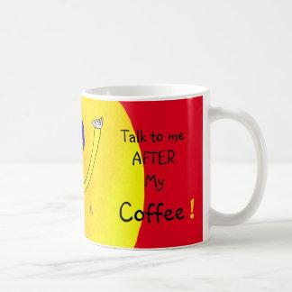 I Need My Coffee, Edgy Whimsical Guy Coffee Mug