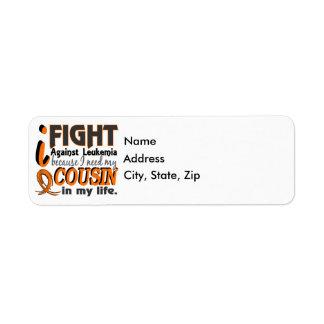 I Need My Cousin Leukemia Label