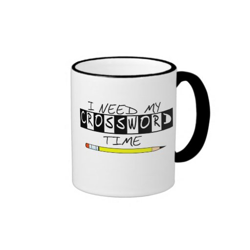 I need my Crossword time t-shirts and gifts. Ringer Coffee Mug