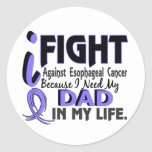 I Need My Dad Esophageal Cancer Round Stickers