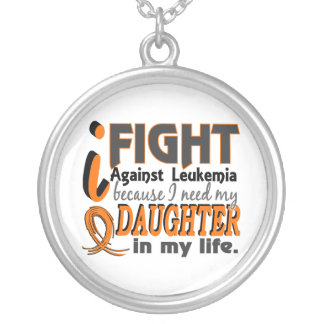 I Need My Daughter Leukemia Silver Plated Necklace