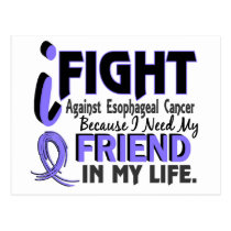 I Need My Friend Esophageal Cancer Postcard