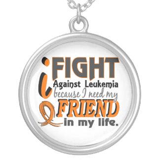 I Need My Friend Leukemia Round Pendant Necklace
