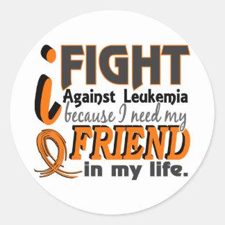 I Need My Friend Leukemia Round Stickers