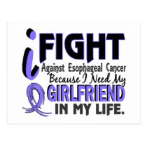 I Need My Girlfriend Esophageal Cancer Postcard