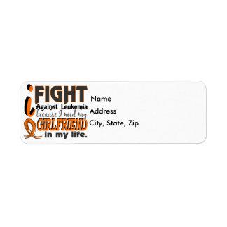 I Need My Girlfriend Leukemia Label