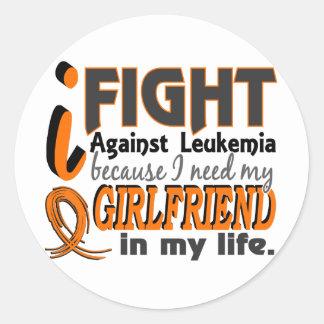 I Need My Girlfriend Leukemia Round Stickers