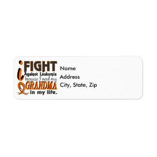 I Need My Grandma Leukemia Label