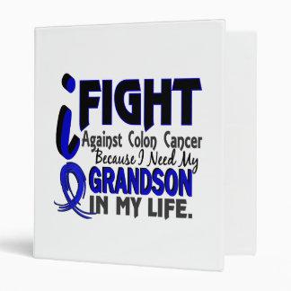 I Need My Grandson Colon Cancer Vinyl Binder