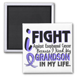 I Need My Grandson Esophageal Cancer 2 Inch Square Magnet