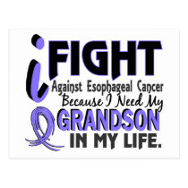 I Need My Grandson Esophageal Cancer Postcard