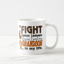 I Need My Grandson Leukemia Coffee Mug