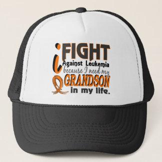 I Need My Grandson Leukemia Trucker Hat