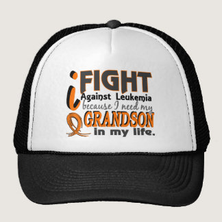 I Need My Grandson Leukemia Trucker Hat