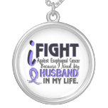 I Need My Husband Esophageal Cancer Round Pendant Necklace