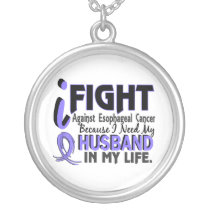 I Need My Husband Esophageal Cancer Silver Plated Necklace