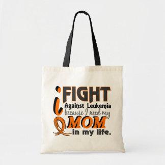 I Need My Mom Leukemia Canvas Bag
