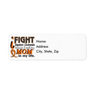 I Need My Mom Leukemia Label