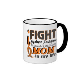 I Need My Mom Leukemia Ringer Mug