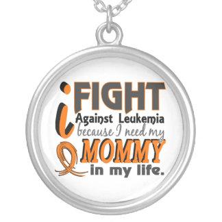 I Need My Mommy Leukemia Round Pendant Necklace