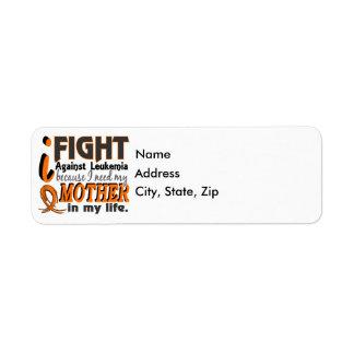 I Need My Mother Leukemia Label