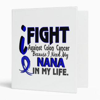 I Need My Nana Colon Cancer 3 Ring Binder