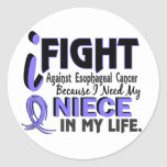 I Need My Niece Esophageal Cancer Stickers