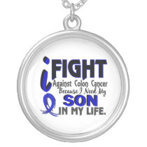 I Need My Son Colon Cancer Silver Plated Necklace