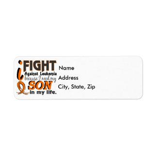 I Need My Son Leukemia Label
